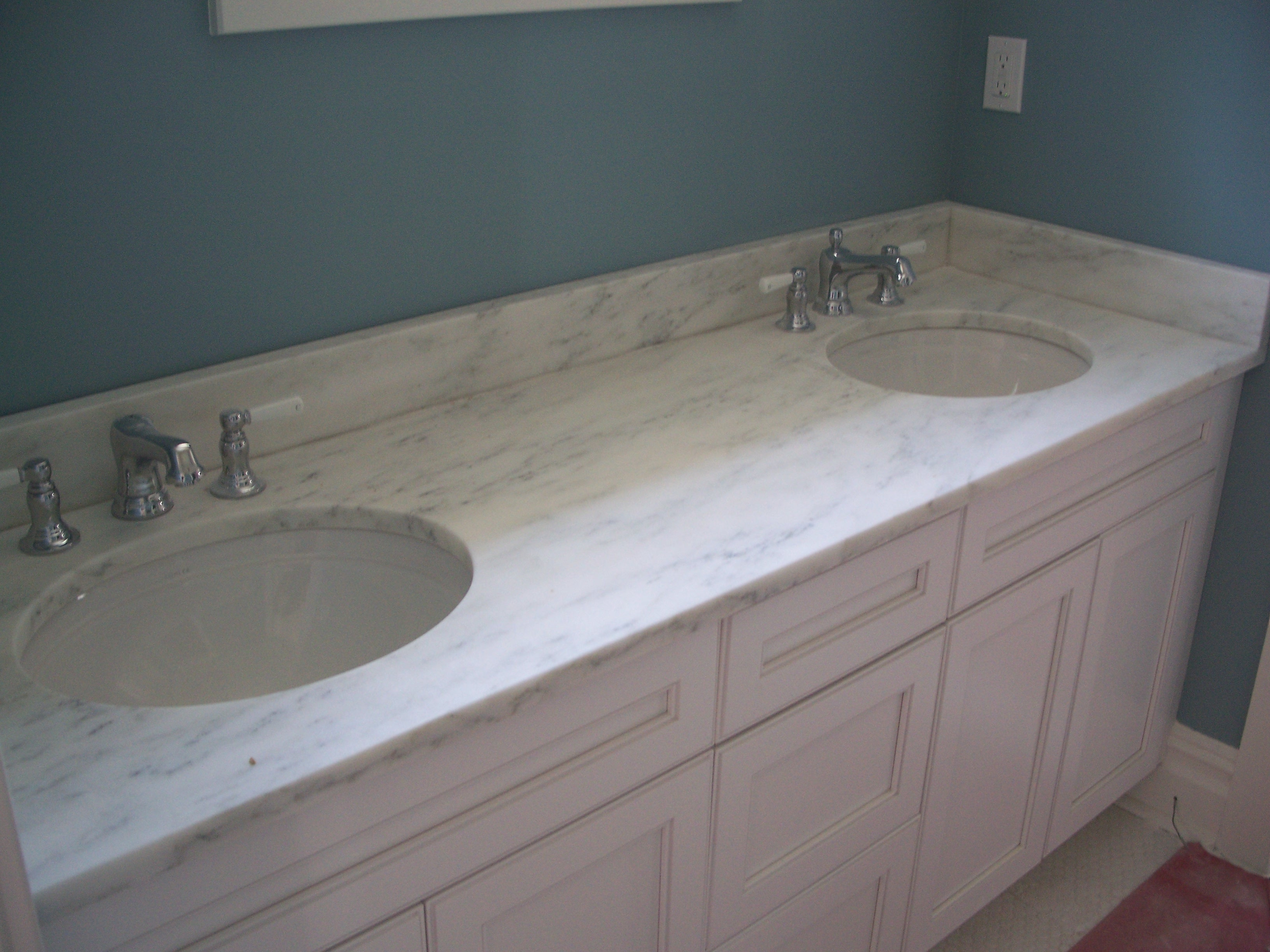 Mountain White Danby Honed Marble Vanity New Jersey S Leading Stone Fabricator And Stone Installers